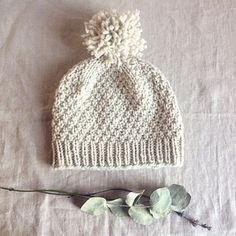 A simple yet satisfying free hat pattern on Ravelry by Solenn Couix-Loarer - Beloved/aran/ hat would be super cozy knit in HiKoo's Simplinatural yarn from @skacelknitting
