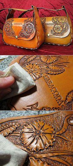 Весенняя сумочка из кожи с гравировкой ... | РУКОДЕЛИЕ | Постила