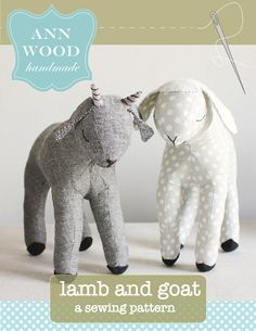 I'm so happy to finally publish this pattern! I hope you enjoy it. A dear little lamb and goat to sew.  What's cuter than baby lambs and goats - nothing- absolutely nothing. Please meet Smokey and ...