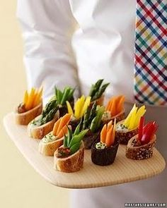 Un matrimonio vegan. Il buffet