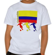 Shop Soccer Colombia T-Shirt created by nitsupak. America Outfit, Soccer Gifts, Fitness Models, Polo Ralph Lauren, Football, Unisex, Tees, Casual, Sleeves