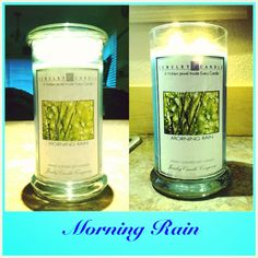 My Morning Rain candle.  I LOVE it!  WORTH the $$$$, they burn cleanly, burn evenly, have good scent throw and there is a mystery jewel in every candle- which will be anywhere from $10-$7500.  This one is a very fresh, clean scent.  #JewelryCandles #candles