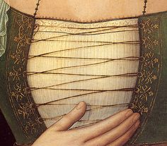 Note the lacing rings and lacing pattern. Post by Festive Attyre. I wish she would have noted details of painting. I think it looks like Italian Renaissance. Renaissance Costume, Medieval Costume, Renaissance Fashion, Renaissance Clothing, Medieval Dress, Italian Renaissance, Medieval Art, Medieval Crafts, Italian Outfits