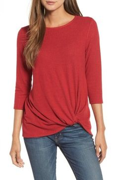 d702ab6f58 Free shipping and returns on Gibson Twist Front Cozy Fleece Pullover  (Regular  amp  Petite