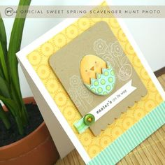 fun colors on this adorable Easter card