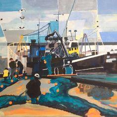 Mending Nets, North Shields  -  jaarti art