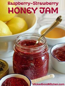 Raspberry Strawberry Honey Jam Recipe