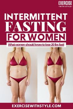 Intermittent fasting for women can have adverse effects on their hormones, metabolism and mental health. Learn how to perform Intermittent Fasting without putting your health at risk for women over 40 and under. Fasting for women is great way to lose 20 lbs fast and safely. #fastingforwomen #weightloss #womenshealth #fasting #wellbeing