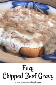 Easy Chipped Beef Gravy is an old-fashioned recipe that goes by many different names including S. The dish uses dried beef and is usually served over toast. This old-fashioned dish is fast and kid-friendly dinner option. Cream Chipped Beef Recipe, Creamed Chipped Beef, Creamed Beef, Chip Beef Gravy, Beef Gravy Recipe, White Gravy Recipe Easy, Easy Gravy, Dried Beef Recipes, Cooking Recipes