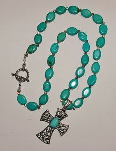 Beautiful Handmade Turquoise Necklace by EASTandWESTJewelry, $24.95