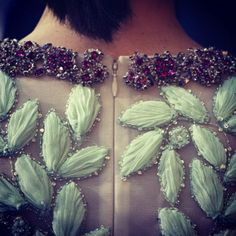 Detail of a Giambattista Valli S/S '14 couture dress. WOW!