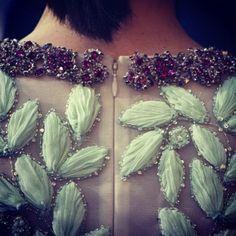 Detail of a Giambattista Valli S/S '14 couture dress. WOW!