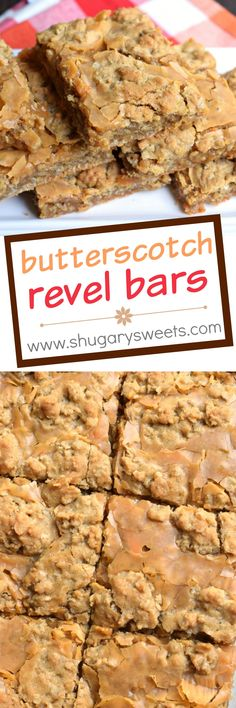 Chewy and sweet, these Butterscotch Revel Bars are a wonderful dessert to make for your next potluck, bake sale or party. They are also a great treat to bake and freeze for school lunches!