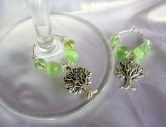 Items similar to Pagan Tree Green Wedding Favour Decorations Wine Glass Charms on Etsy Wiccan Wedding, Celtic Wedding, Best Wedding Favors, Wedding Ideas, Wedding Details, Wedding Stuff, Wiccan Crafts, Steampunk Wedding, Wine Glass Charms