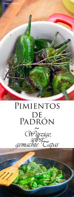 Pimientos de Padrón sind würzige, selbst gemachte Tapas. Na, habt Ihr Lust auf einen Kurztripp nach Spanien? Dann sind diese Tapas genau das Richtige.