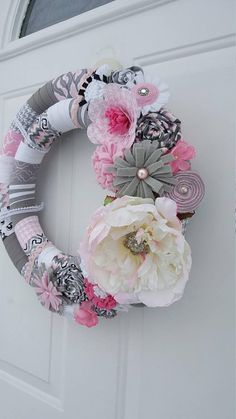 Check out this item in my Etsy shop https://www.etsy.com/listing/514012464/shabby-chic-wreath-wrapped-wreath-peony