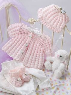Beautiful Baby Boutique II includes 9 adorable baby crochet pattern sets, including 4 dress sets and 5 layette sets. Crochet Bebe, Crochet Girls, Crochet Baby Clothes, Crochet For Kids, Knit Crochet, Free Crochet, Crochet Stitch, Crochet Shawl, Baby Knitting Patterns