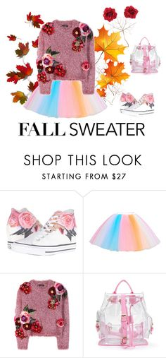 Fall Sweater by love-kaleidoscope on Polyvore featuring Dolce&Gabbana, Converse, Hot Topic and Bastien