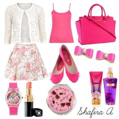 "THIS OUTFIT MADE BY ME ""Pinkish Burn!"" by shafiraalamanda on Polyvore. Go catch me at Polyvore!"
