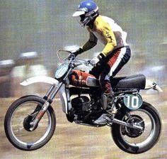 "Heikki Mikkola the ""Flying Finn"" on a Husqvarna CR 360.  Legendary rider!"