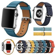 Apple Watch Leather Strap, Leather Watch Bands, Apple Watch Nike, Apple Watch Bands, Apple Watch Series, Classic Leather, Pu Leather, Watches, Series 3