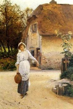 Fetching the Water, 1907 ~ Carlton Alfred Smith ~ (English: 1853-1946)