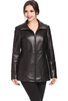 New Womens Lambskin Leather Slim Fit Motorcycle Jackets LFW102