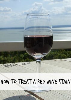 How to Remove a Fresh Red Wine Stain