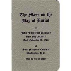 Funeral Program of JFK.