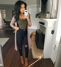 Likes, 38 Comments - Monica Gabriela Cute Casual Outfits, Mom Outfits, Night Outfits, Ladies Outfits, Stylish Outfits, Look Fashion, Autumn Fashion, Fashion Outfits, Sexy Fall Fashion