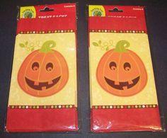 Halloween Treat Sacks Goody Loot Favor Bags Pumpkin Set of 16 #Unknown