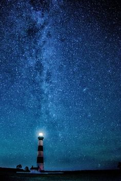 Under the Stars - Bodie Lighthouse, Outer Banks, NC -- by Kathi Weinheimer on 500px
