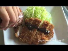 Tonkatsu (deep fried pork) Recipe Video - Japanese Cooking 101 | Easy Japanese Recipes