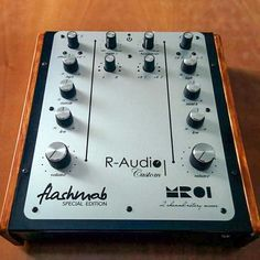 R-Audio MR01 2 channel rotary mixer from Italy. No idea of how HiFi this is. Its raises suspection due to the very close resemblence to the Intimidation Apex with its wasted space where the effects would have been. A complete redesign might have made more effort to utilise it a little more.