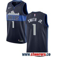 Men s Nike Dallas Mavericks  1 Dennis Smith Jr. Navy NBA Swingman Statement  Edition Jersey 6f7fe5049