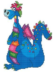 Cross Stitch Craze: Cute Dragon Cross Stitch