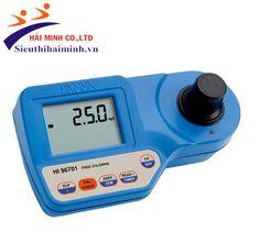 Máy đo clo  Hanna HI 96701  THÔNG SỐ KỸ THUẬT - Thang đo: Tự do: 0.00 – 5.00 mg/l - Độ phân giải: 0.01mg/l từ 0.00 đến 3.5 mg/l; - Độ chính xác: ±0.03 mg/l hoặc ± 3 % độ đọc. - Nguồn sáng: đèn Tungsten,  - Đầu dò sáng: Silicon photocell. - Chế độ tự động tắt sau 10 phút không sử dụng. - Nguồn sử dụng: pin 9V. - Môi trường hoạt động: 0 – 50 0C, 95% RH. - Kích thước: 192 x 104 x 64 mm. - Khối lượng: 360 g. Ghi chú: Khách hàng mua thêm thuốc thử mẫu HI93701-01 test được 100 lần giá: 600.000…