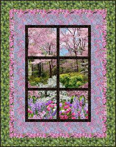FREE PATTERN >> Outside My Window, Next Step Quilt Designs. Botanic Garden - Timeless Treasures