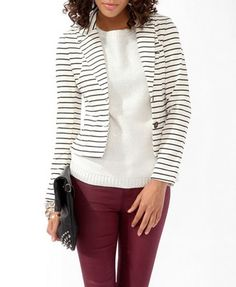 I can so wear this..just need the stripped blazer jacket and white shirt under..got the pants :) soo cutee..love strips
