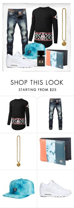 """""""Metro Velvet"""" by tropical-vegas-finest ❤ liked on Polyvore featuring Polaroid, Versace, Billabong, NIKE, Blood Concept, men's fashion and menswear"""