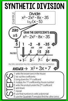 √ Dividing Polynomials Using Synthetic Division Worksheet Answers . 4 Dividing Polynomials Using Synthetic Division Worksheet Answers. Dividing Polynomials Using Synthetic Division Worksheet Maths Algebra, Math Tutor, Math Teacher, Math Classroom, Teaching Math, Math Math, Flipped Classroom, Math Fractions, Synthetic Division