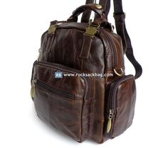 Leather Laptop Backpack, Rucksack Backpack, Mini Backpack, Canvas Travel Bag, Things To Buy, Leather Men, Backpacks, Bags, Brown