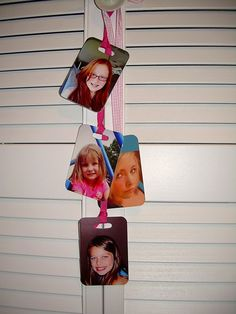 "Photo display idea for ""luggage tags"" from Shutterfly.com"