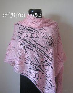 Pink Knitting Lace Shawl Wedding Shawl Crochet shawl