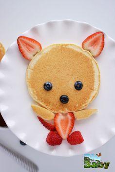 ¡Qué lindo hotcake! Dale a tu peque masa integral y ponle de preferencia miel de abeja.