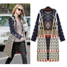 Big Discount !2014 Autumn Winter Fashion Women Cardigan Sweater Ladies Bohemian Hooded Long Knitting Casual Sweater b7 CB033444