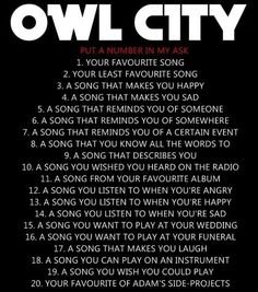 1. If My Heart Was a House 2. NONE  3. Dental Care 4. Silhouette  5. The Bird and the Worm 6. Dreams Don't Turn to Dust  7. Galaxies 8. Cave In 9. Hey Anna 10. I'm Coming After You  11. On  the Wing 12. Dementia  13. I Hope You Think of Me 14. Lonely Lullaby 15. Meteor Shower 16. Angels  17. Rugs from Me to You 18. Fireflies 19. The Saltwater Room  20. Sky Sailing