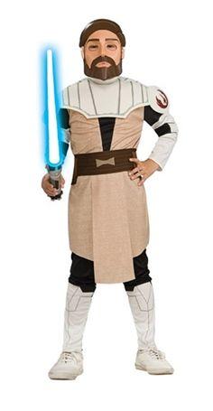 """Dziecięcy kostium dla młodego fana """"Gwiezdnych wojen"""". Obi Wan Kenobi zrobi wrażenie na wszystkich podczas przebieranej zabawy."""