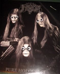 Metal albums with googly eyes. Click through for more!!