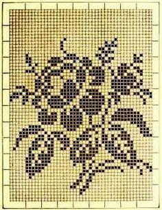 Kira esquema  filet crochet de crochê